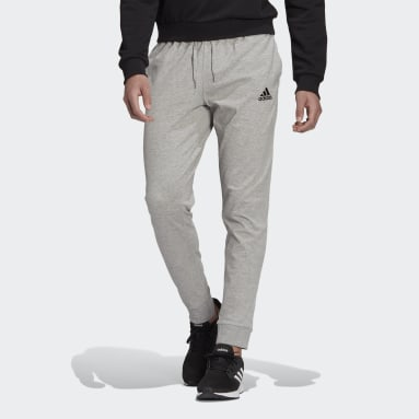 Men's Essentials Grey Essentials Single Jersey Tapered Cuff Pants