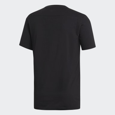 Men Gym & Training Black Tiro 19 T-Shirt