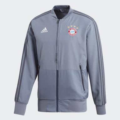 Men Football Blue FC Bayern Ultimate Presentation Jacket