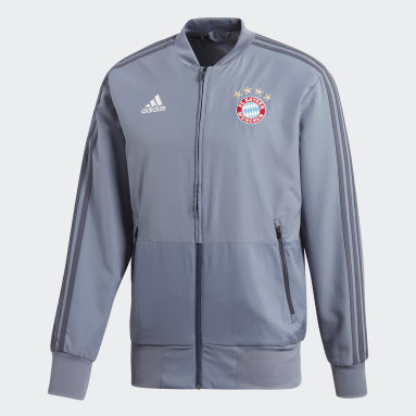 Men Football Blue FC Bayern Ultimate Presentation Track Top