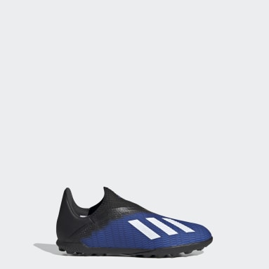 Kids 4-8 Years Football Blue X 19.3 Turf Boots