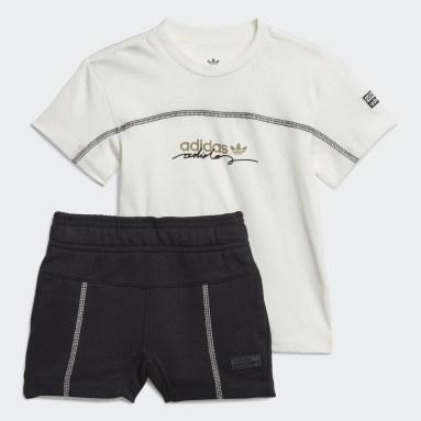 Kids Originals White R.Y.V Shorts and Tee Set
