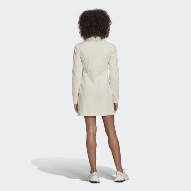 Ženy Originals bílá Šaty Adicolor Track