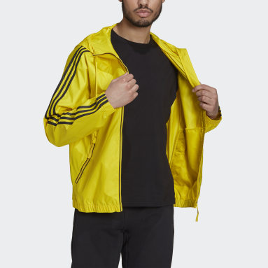 Men City Outdoor Yellow BSC 3-Stripes Wind Jacket