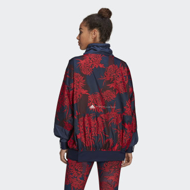 Veste adidas by Stella McCartney Future Playground Half-Zip Printed Rouge Femmes adidas by Stella McCartney