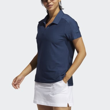 Women Golf Blue Go-To Primegreen Short Sleeve Polo Shirt