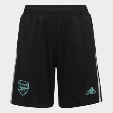 Kids Football Black Arsenal Tiro Training Shorts