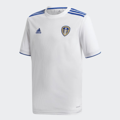 Kids Football White Leeds United FC 20/21 Home Jersey