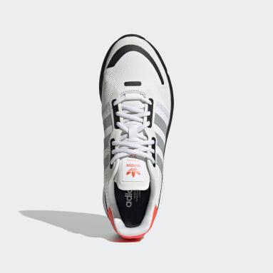 Men Originals White ZX 1K Boost Shoes