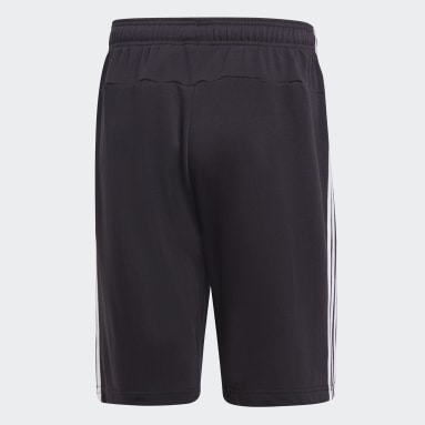 Herr Sportswear Svart Essentials 3-Stripes French Terry Shorts