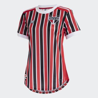 Camisa 2 São Paulo FC 21/22 Vermelho Mulher Futebol