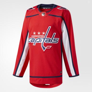Maillot Capitals Domicile Authentique Pro rouge Hockey