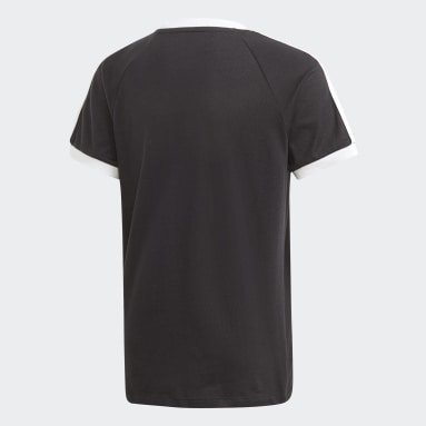 Kluci Originals černá Tričko 3-Stripes