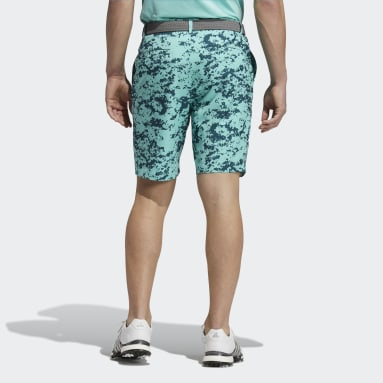 Men Golf Turquoise Ultimate365 Camo Shorts