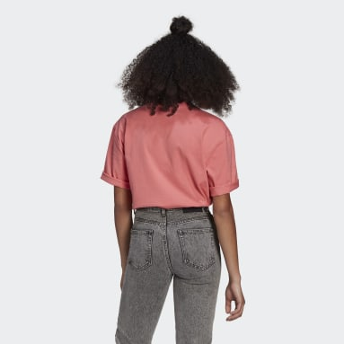 Women Originals Pink LOUNGEWEAR Adicolor Essentials Tee