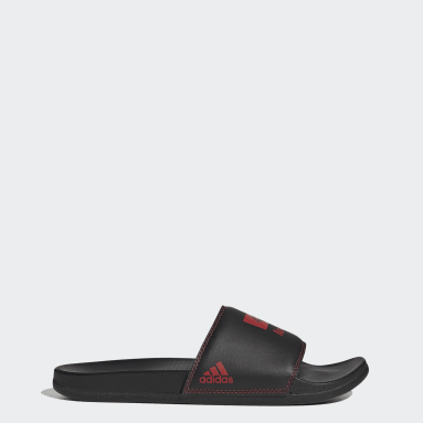 Swimming Black Adilette Comfort Sandals