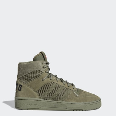 Men's Originals Green We All We Got Rivalry Hi Shoes