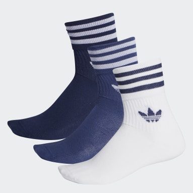 Originals Blue Mid-Cut Crew Socks 3 Pairs