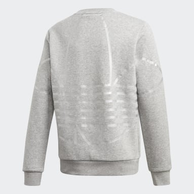 Youth Originals Grey Large Logo Crew Sweatshirt