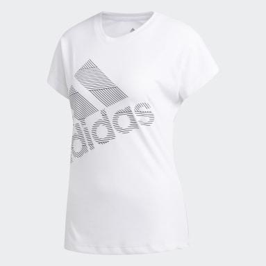 T-shirt Badge of Sport Blanc Femmes Hockey Sur Gazon