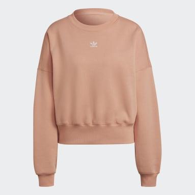 Dames Originals Roze Adicolor Essentials Fleece Sweatshirt