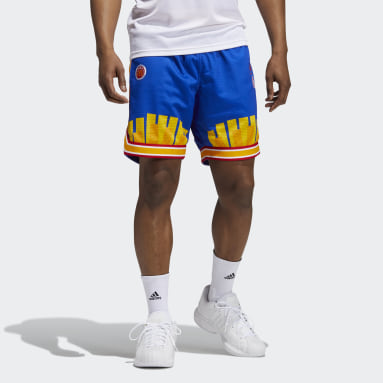 Men Basketball Blue Eric Emanuel McDonald's Reverse Retro Shorts