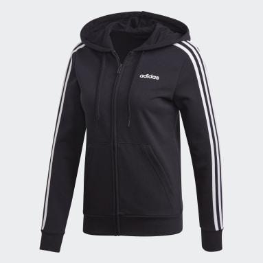 Casaco com Capuz 3-Stripes Essentials Preto Mulher Sportswear
