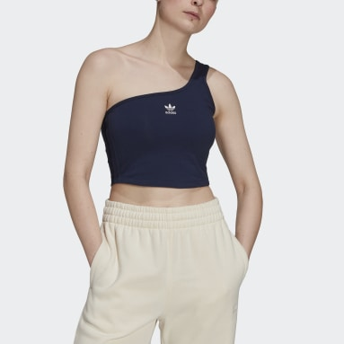 Dam Originals Blå Tennis Luxe Asymmetrical Top