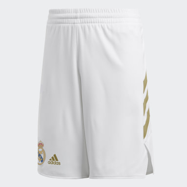Kids 4-8 Years Basketball White Real Madrid Youth Short