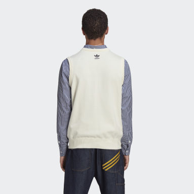 Men Originals White Human Made Knit Vest