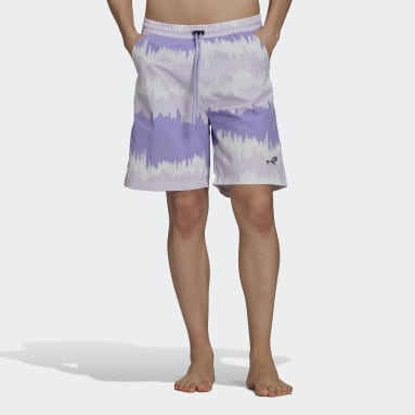 Heren Originals Paars adidas Adventure Archive Printed Woven Short
