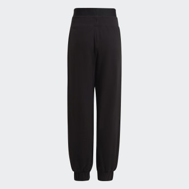 Warm-Up Dance Move Comfort Cotton Relaxed Low Crotch Pants Czerń