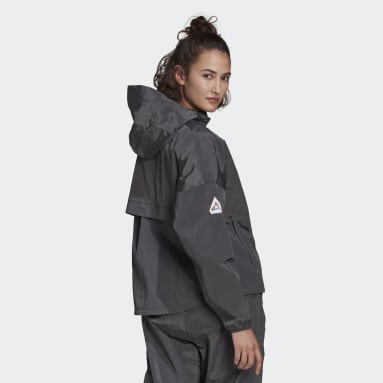 Women Sportswear Grey adidas Sportswear Crop Windbreaker