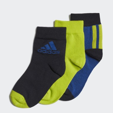 Youth 8-16 Years Running Blue Ankle Socks 3 Pairs