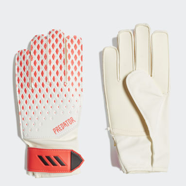 Youth 8-16 Years Football White Predator 20 Training Goalkeeper Gloves