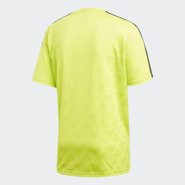 Men Football Yellow TAN Jacquard Jersey