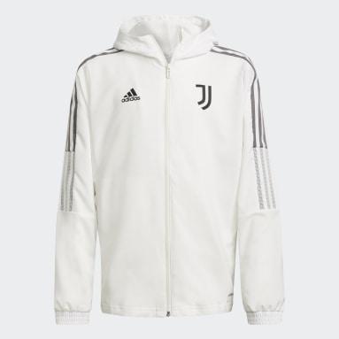 Barn Fotboll Vit Juventus Tiro Presentation Jacket