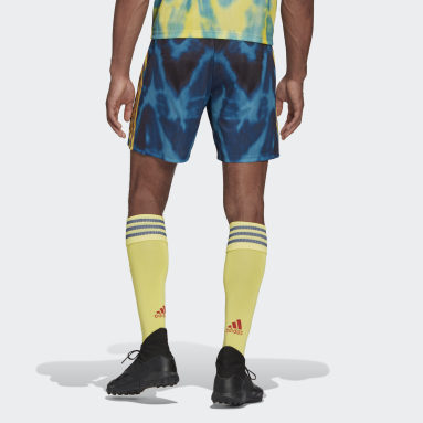 Men Football Yellow Arsenal Human Race Shorts