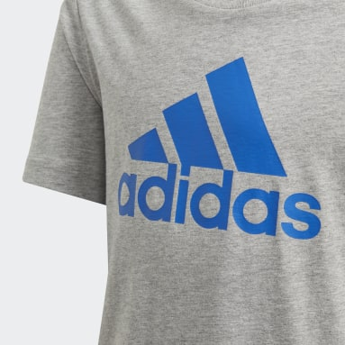 Jungen Yoga Must Haves  Badge of Sport T-Shirt Grau