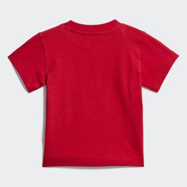 Camiseta Trefoil Rojo Niño Originals