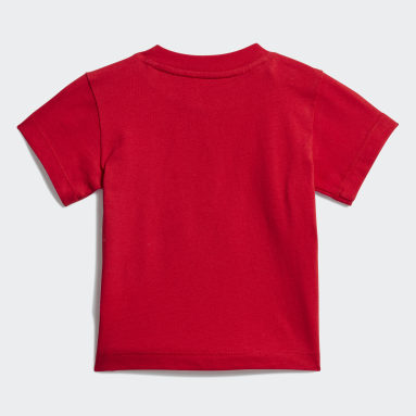 Kids Originals Red Trefoil T-Shirt