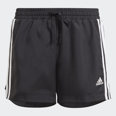 Girls Lifestyle Black adidas Designed To Move 3-Stripes Shorts