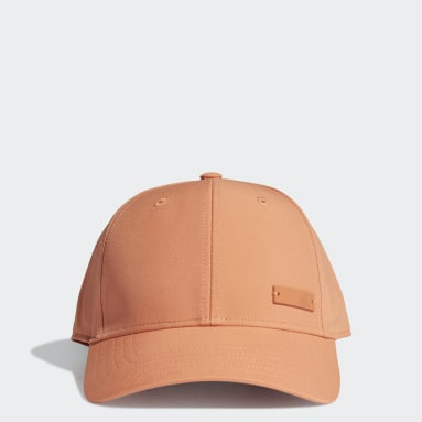 Field Hockey Orange Lightweight Metal Badge Baseball Cap