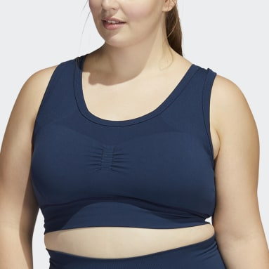 Women's Yoga Blue Studio Bra (Plus Size)