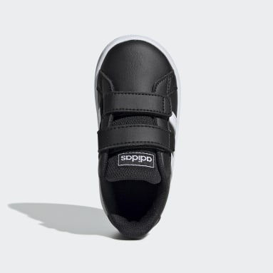 Tenis Grand Court (UNISEX) Negro Niño Essentials