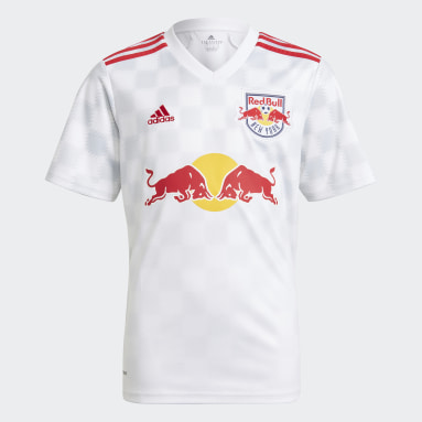 Youth Soccer White New York Red Bulls 21/22 Home Jersey