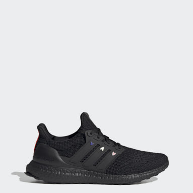 Men Running Black Ultraboost 4.0 DNA Valentines Day Shoes