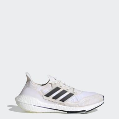 Tenis Ultraboost 21 Primeblue Blanco Hombre Running