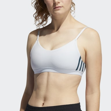 Women's Yoga Blue All Me 3-Stripes Bra