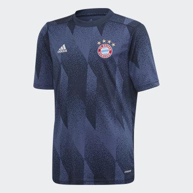Kinder Fußball FC Bayern München Pre-Match Shirt Blau